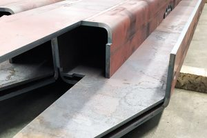 Photos of high thick material folding, steel bending, steel folding